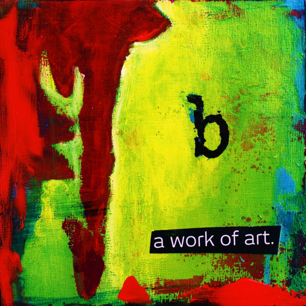 (how to be) a work of art