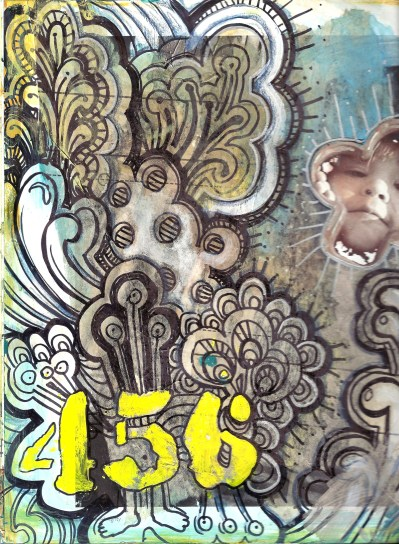 456 - another altered book page