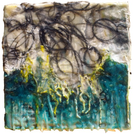 encaustic painting by Misty Oliver-Foster