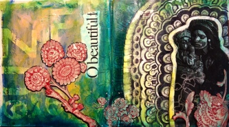 O Beautiful -- altered book visual journal