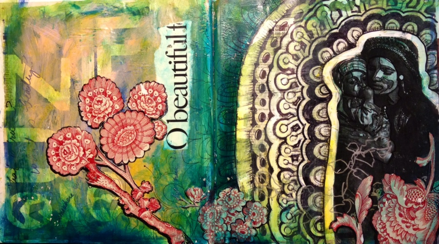 O Beautiful -- altered book visual journal