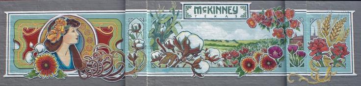 McKinney Public Mural, Historic Downtown McKinney, Texas, 40 x 9'