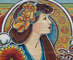 Detail: McKinney Public Mural, Historic Downtown McKinney, Texas, 40 x 9'