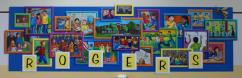 """""""Rogers Family"""" at Rogers Elementary School, Frisco, approx. 25 x 10'"""