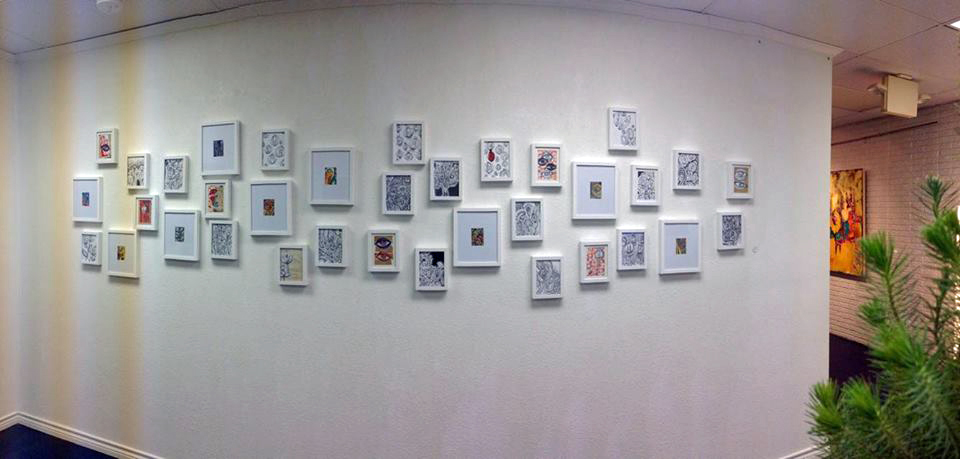 pano of works on paper
